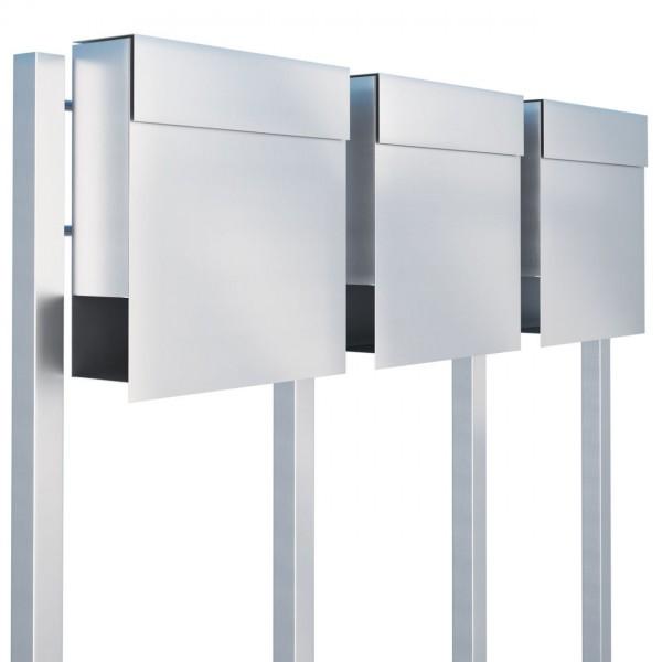 Postkastsysteem Manhattan voor drie RVS