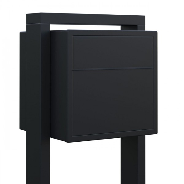 Vrijstaande brievenbus Soprano Zwart