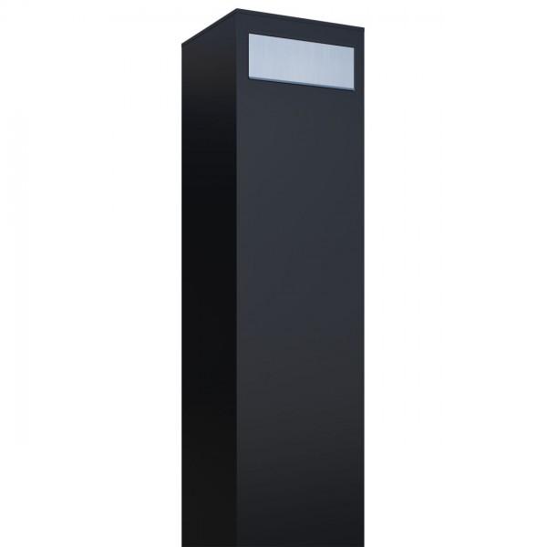 Vrijstaande brievenbus Monolith Zwart met RVS inwerpklep