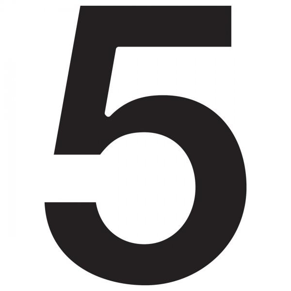 huisnummer ''5'' Zwart