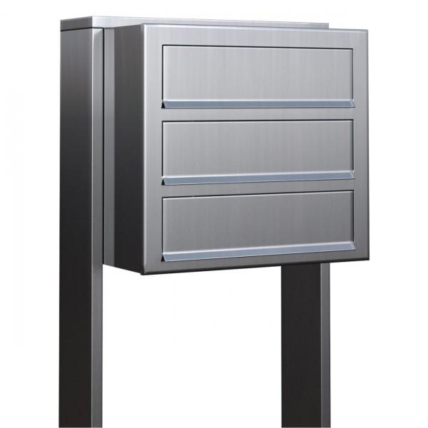 Postkastsysteem Cube voor drie RVS