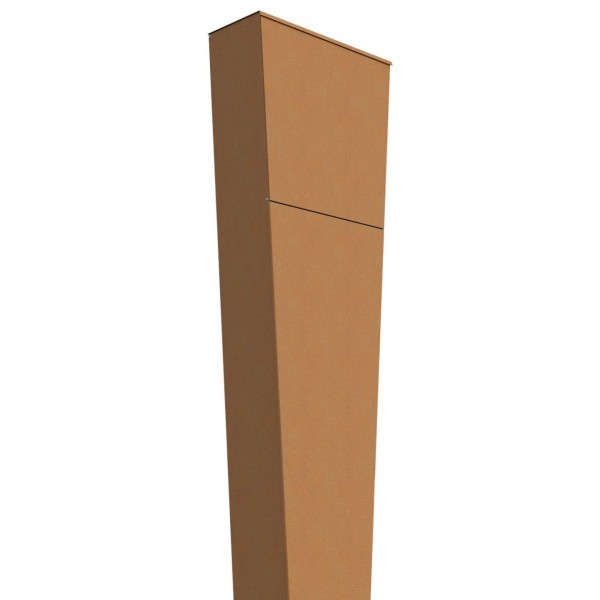 Vrijstaande brievenbus Triangle Okerbruin