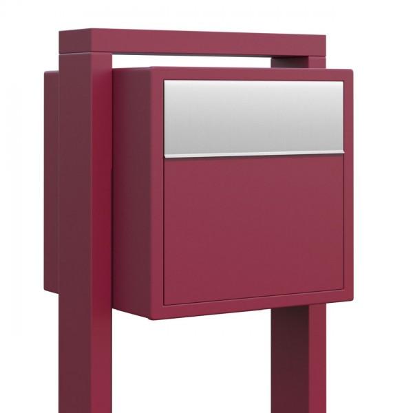 Vrijstaande brievenbus Soprano Rood met RVS inwerpklep