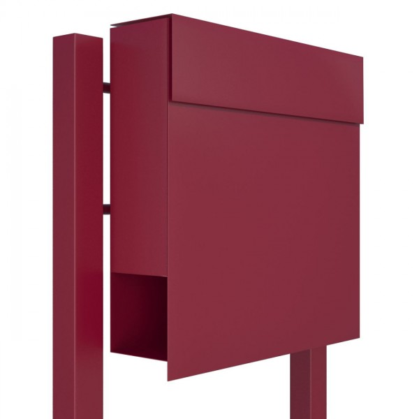 Vrijstaande brievenbus Manhattan Rood