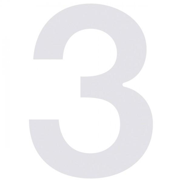 huisnummer ''3'' Wit