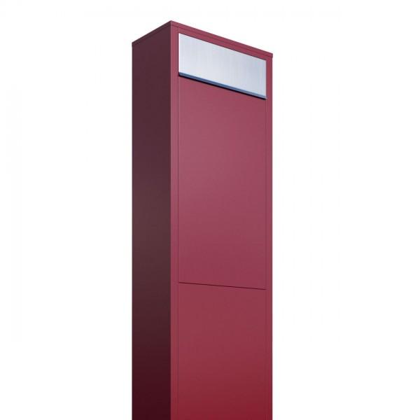 Vrijstaande brievenbus Big Box Rood met RVS inwerpklep