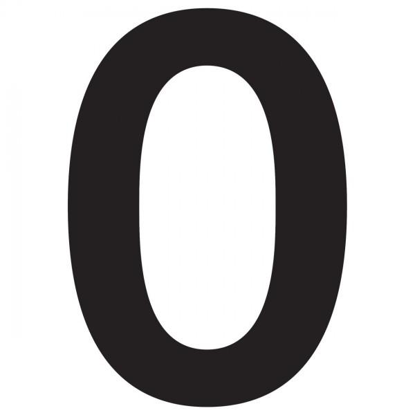 huisnummer ''0'' Zwart