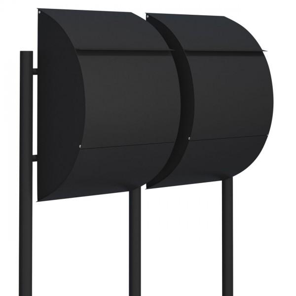Postkastsysteem Jumbo voor twee Zwart