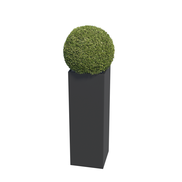 Bloempot Skinny Pillar Medium in Zwart