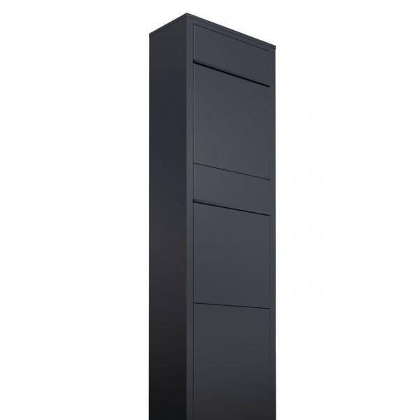 Postkastsysteem Big Box voor twee Zwart