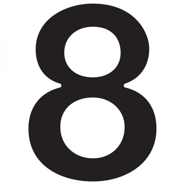 huisnummer ''8'' Zwart