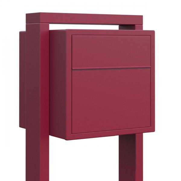 Vrijstaande brievenbus Soprano Rood