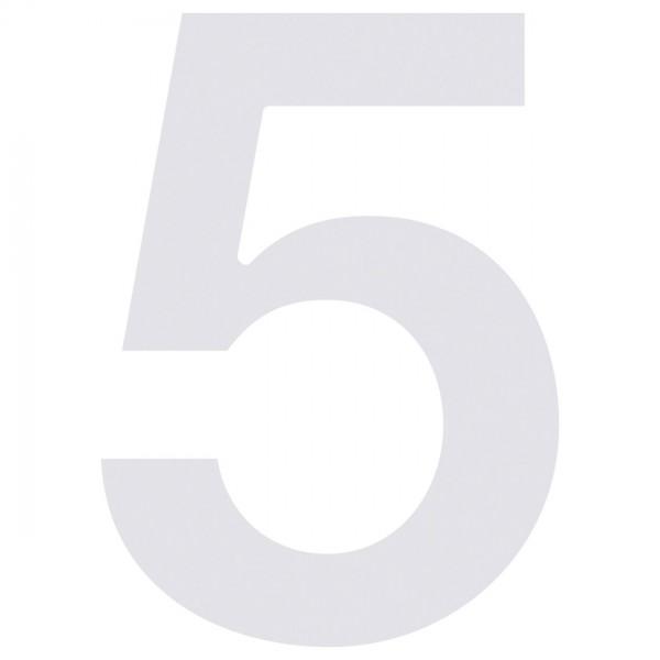 huisnummer ''5'' Wit