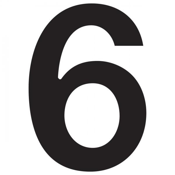 huisnummer ''6'' Zwart