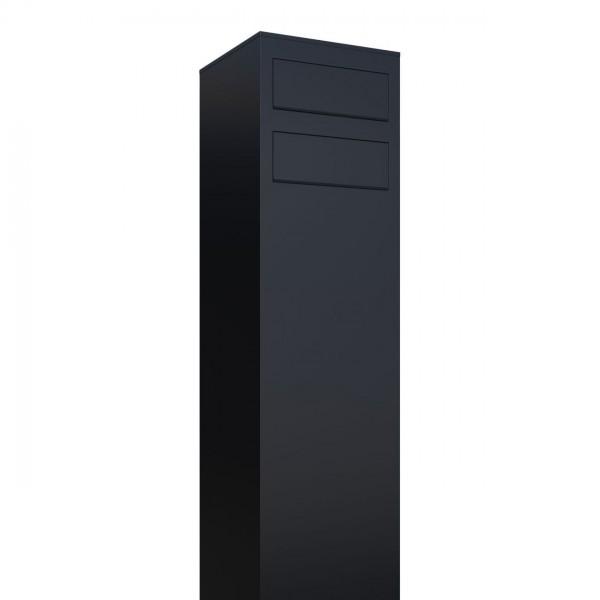 Postkastsysteem Monolith voor twee Zwart