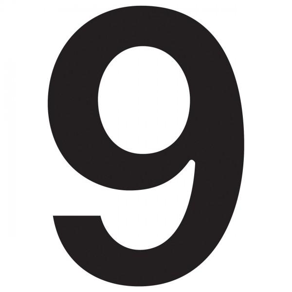 huisnummer ''9'' Zwart