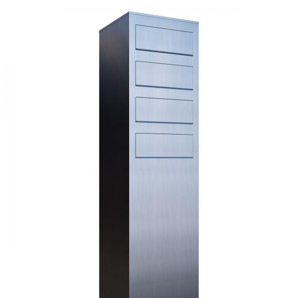 Postkastsysteem Monolith voor vier RVS
