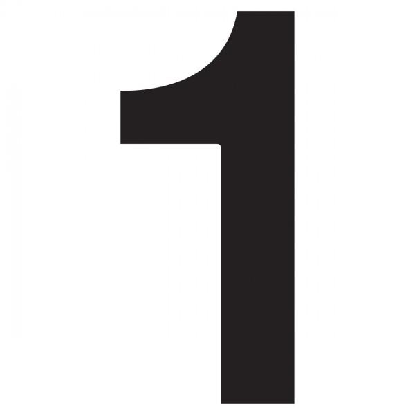 huisnummer ''1'' Zwart