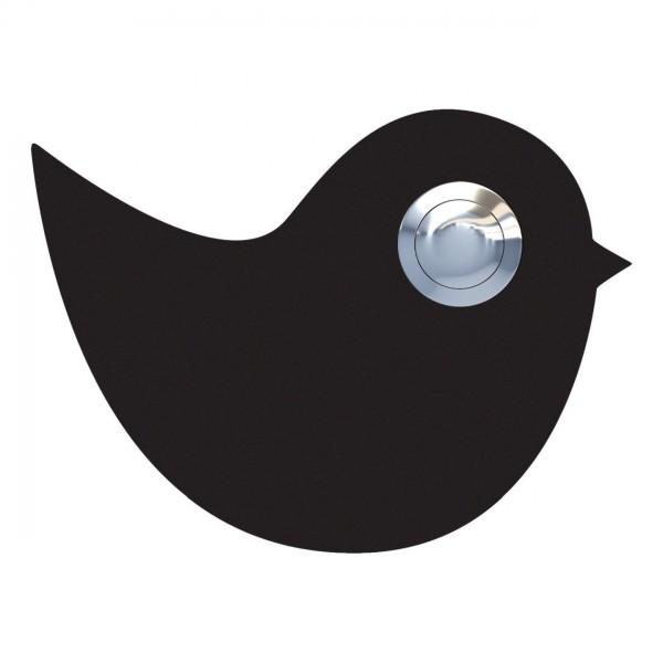 Deurbel vogel Zwart