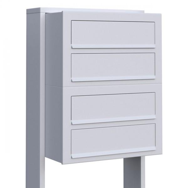 Postkastsysteem Cube voor vier Wit