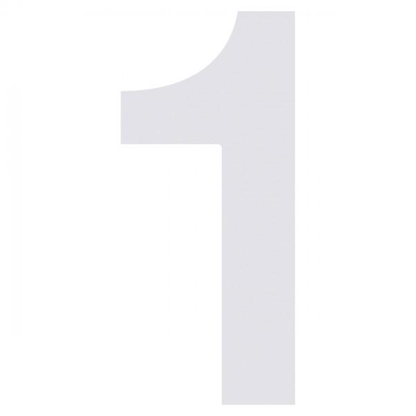 huisnummer ''1'' Wit