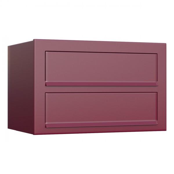 Postkastsysteem Cube voor twee Rood