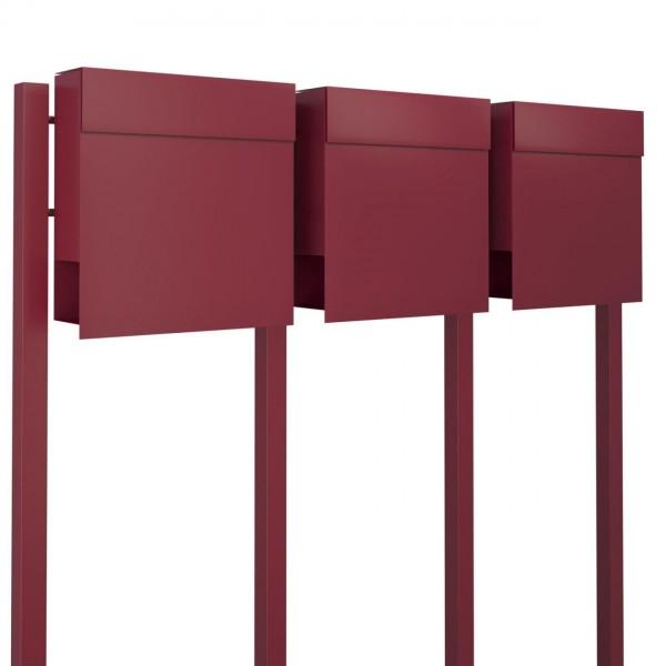 Postkastsysteem Manhattan voor drie Rood