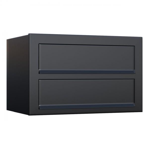 Postkastsysteem Cube voor twee Zwart