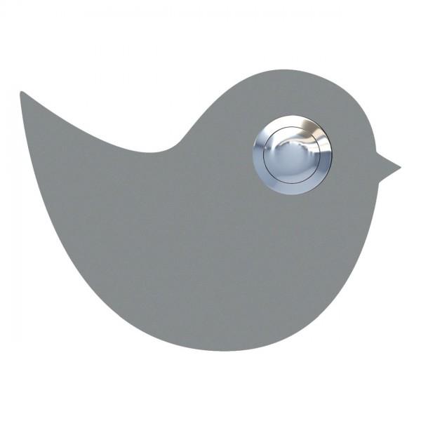 Deurbel vogel Grijs Mettallic