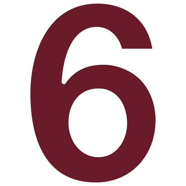 huisnummer ''6'' Rood