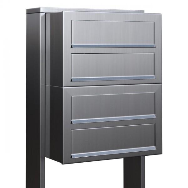 Postkastsysteem Cube voor vier RVS