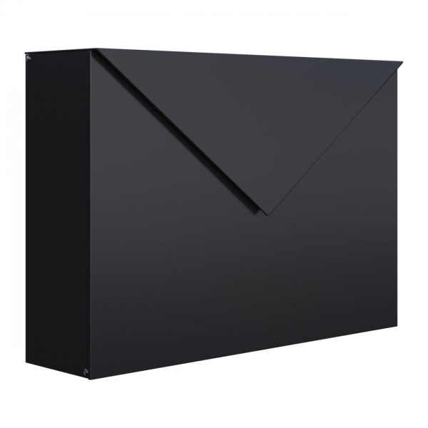 Brievenbus Letter Zwart