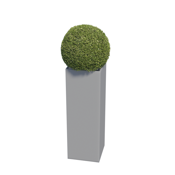 Bloempot Skinny Pillar Medium in Grijs Mettallic