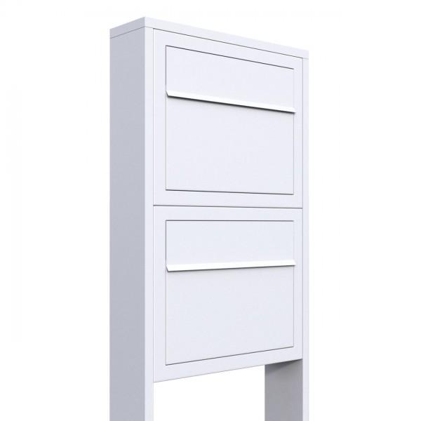 Postkastsysteem Elegance voor twee Wit