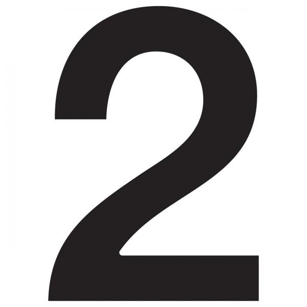huisnummer ''2'' Zwart