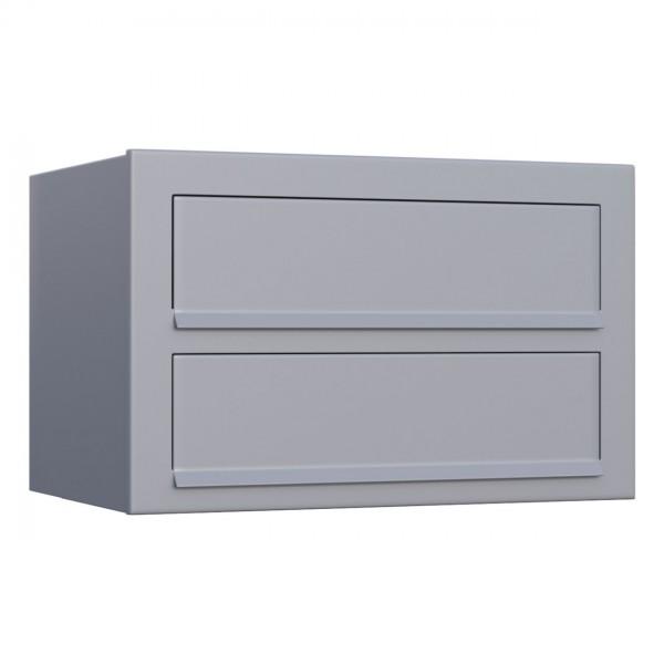 Postkastsysteem Cube voor twee Grijs Mettallic