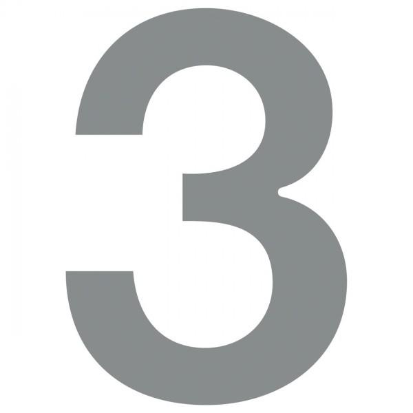 huisnummer ''3'' Grijs Mettallic